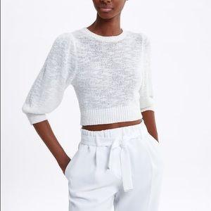 Zara Pants - NWT Zara Belted Pants White XL